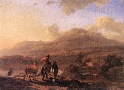 BERCHEM, Nicolaes Italian Landscape at Sunset oil painting picture wholesale